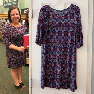 Market and Spruce navy print dress from Stitch Fix